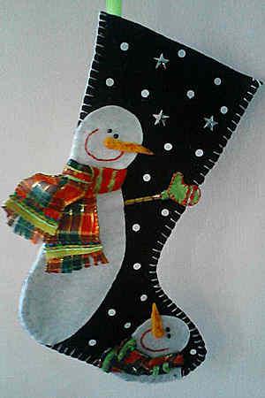 como hacer una bota de navidad