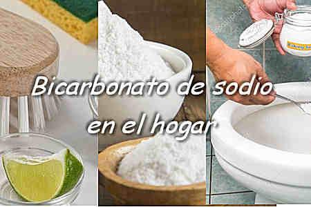 bicarbonato de sodio en el hogar baños cocina