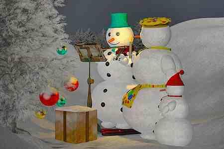 decorar-arboles-navidenos-muneco-de-nieve