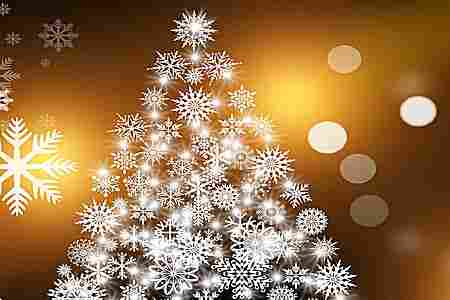 Decorar árboles navideños blancos  hermosos