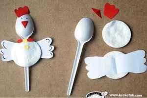 decorar con cucharas de plástico