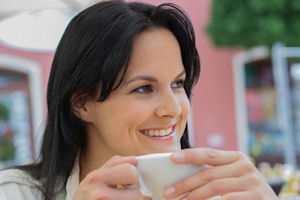 disfrutar un cafe delicioso