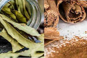 reducir grasa abdominal rapido canela y hojas de laurel